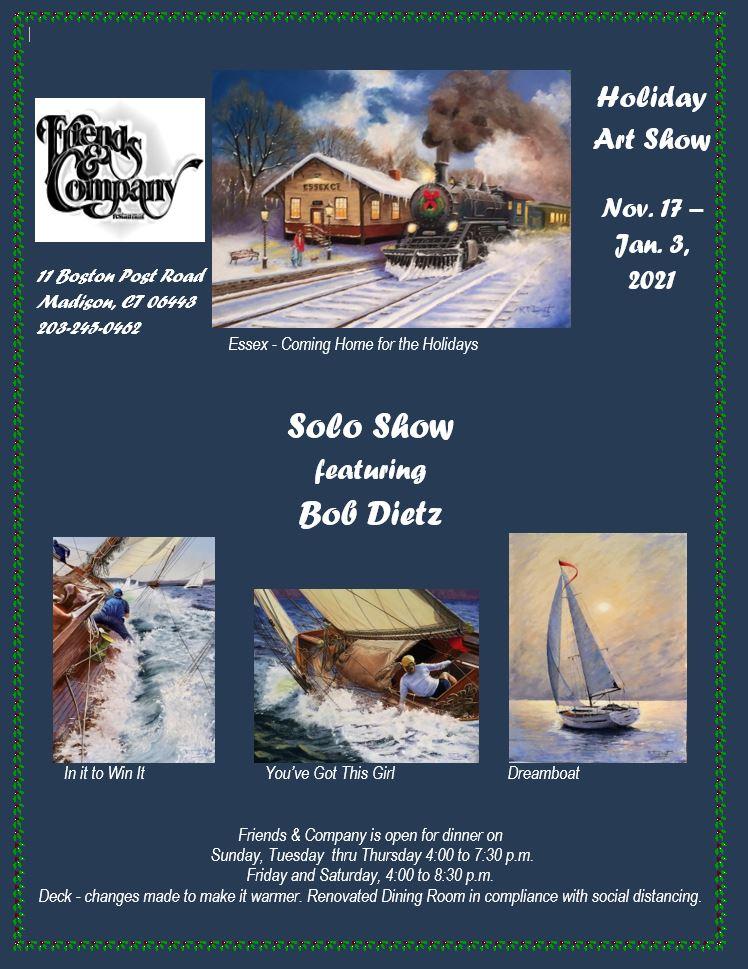 11-17-20  Bob Dietz Solo Holiday Art Show